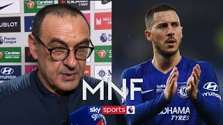 """Sarri says he """"cannot do anything"""" to keep Eden Hazard at Chelsea   Chelsea 2-0 West Ham Post Match"""