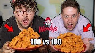 Eating Wendys Spicy Chicken Nuggets Challenge W/ Jc Caylen