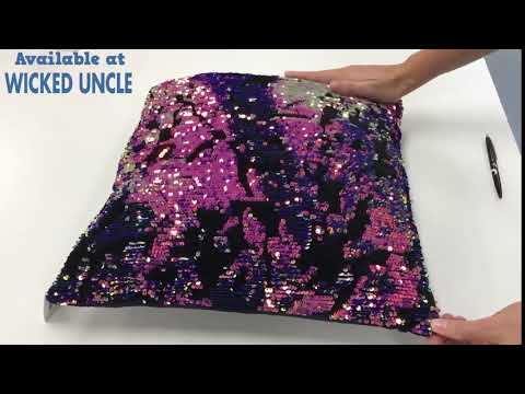 Youtube Video for Scattered Magic Sequin Pillow USA