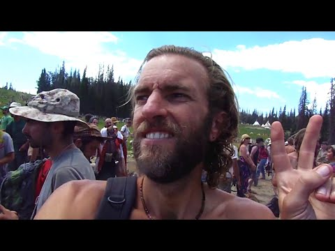 Tour of a Rainbow Gathering: Hippie festival in the woods