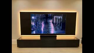 LED back light on TV wall panel