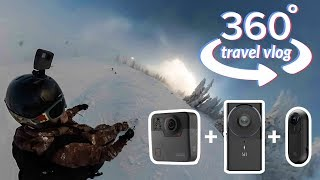 360 Travel Vlog - Cypress Mountain Snowboarding with GoPro Fusion, Yi 360 VR, Insta360 ONE