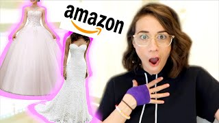 BUYING MY WEDDING DRESS ON AMAZON!