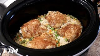 How To Make Chicken And Rice In The Slow Cooker~Easy Cooking