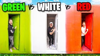 Tiny Houses Using Only ONE Color!