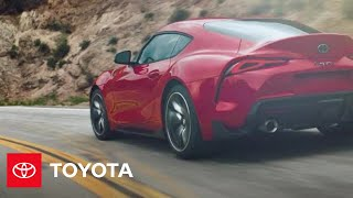 YouTube Video lWB_rmX0lT4 for Product Toyota GR Supra Sports Car (5th gen J29/DB) by Company Toyota Motor in Industry Cars