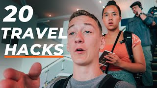 20 MOST OVERLOOKED Flight/Airport Hacks - BEST Flight Ever 2020