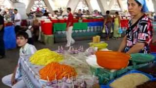 Central Asian Market Scene