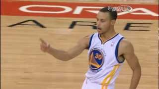 Curry counts out his 4-point play!