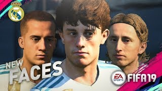 FIFA 19 Demo | REAL MADRID NEW PLAYER FACES