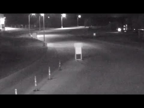 Bell shaped UFO captured on security camera