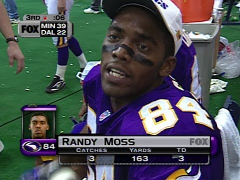 Randy Moss vs Cowboys Thanksgiving 1998 - SCORED ON EVERY CATCH!