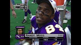 Randy Moss vs Cowboys Thanksgiving 1998 - SCORED ON EVERY CATCH!
