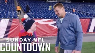 Rob Gronkowski and Patriots fan Robbie Barnicoat inspire each other | NFL Countdown | ESPN