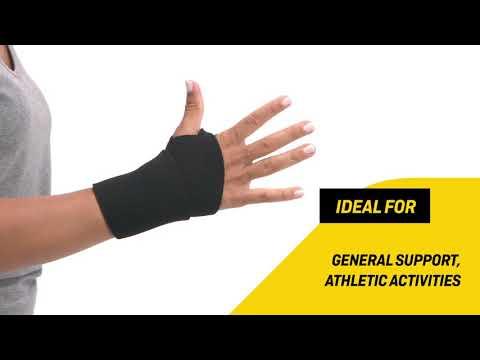 FUTURO Bandaža za zapestje z odprtino za palec, črna