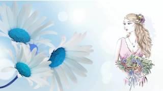 Рисованное видео женщины и цветы