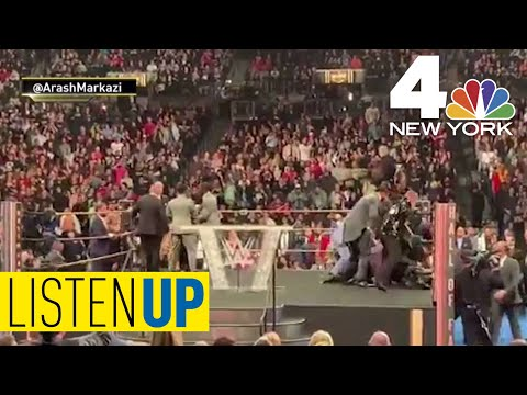 Fan Tackles Bret 'The Hitman' Hart During WWE Ceremony | Listen Up