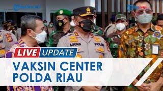Polda Riau Launching Vaksin Center Pertama di Indonesia, Bisa Layani Vaksinasi 117 Orang Bersamaan