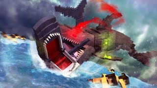 Jaws Movie 2 - Mega Robo Shark vs Jaws! (Minecraft Roleplay) #8