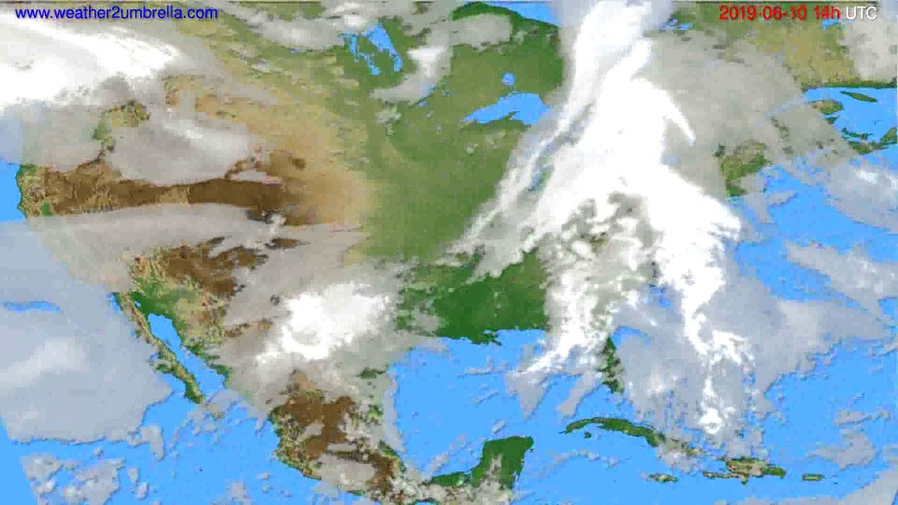 Cloud forecast USA & Canada // modelrun: 00h UTC 2019-06-08