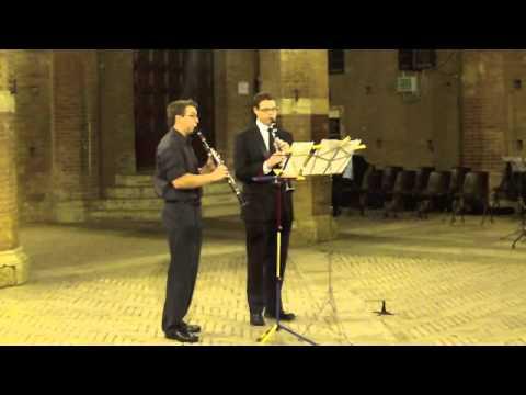Poulenc Sonata for Two Clarinets, presto Siena Summer Music Festival