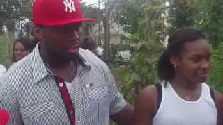 "Curtis ""50 Cent"" Jackson@50 Cent Community Garden in Baisley Park, Jamaica, Queens, NY"