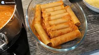 Cannelloni - rurki z miesem mielonym w sosie pomidorowym