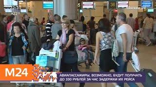 Авиапассажиры смогут получать до 330 рублей за час задержки их рейса - Москва 24