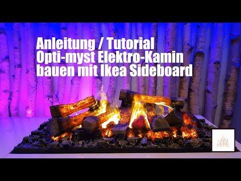 IKEA HACKS! 😱🔨 Elektrokamin bauen opti myst 3D in IKEA TV Sideboard Feuerstelle real flame fireplace