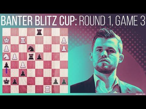 """Let's try to provoke him""   Magnus Carlsen vs. GM Alan Pichot: Banter Blitz Cup Round 1, Game 3"