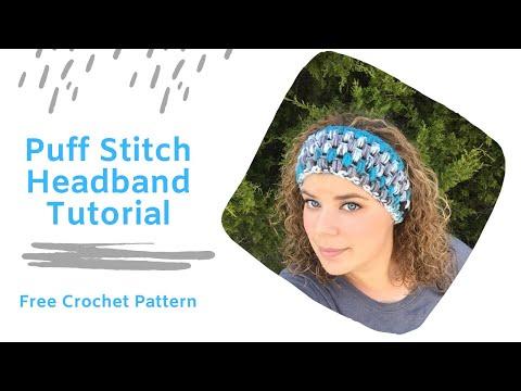 How to Crochet Puff Stitch Headband Tutorial