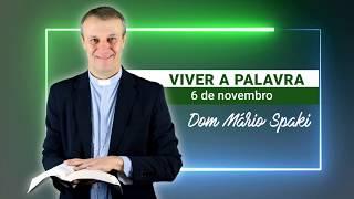 O Evangelho do dia com Dom Mário Spaki 06-11-2019