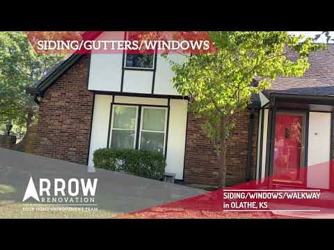 Exterior Make-Over of Siding, Windows and Gutters in Olathe, KS