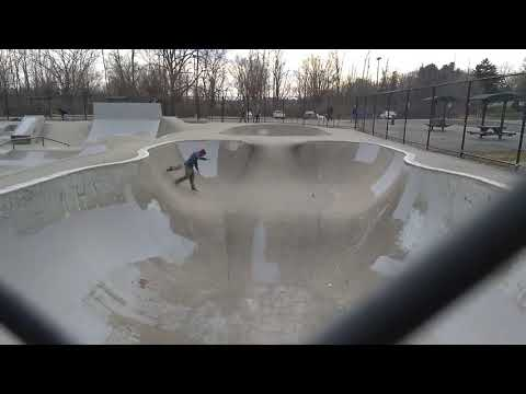 Upper Cascade skatepark. Bloomington, indiana