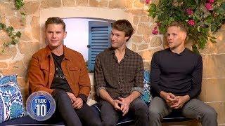 Mamma Mia! 2 Exclusive: Jeremy Irvine, Hugh Skinner & Josh Dylan | Studio 10