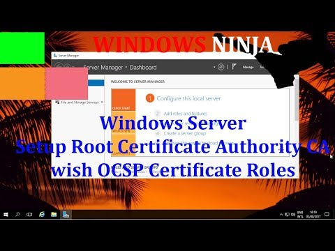 Windows Server 2016 - Setup Root Certificate Authority CA with ...