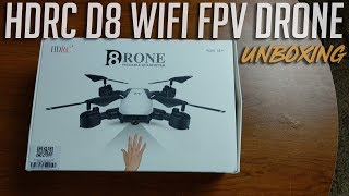 HDRC D8 Long Flying WIFI FPV Foldable Drone Unboxing