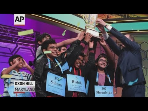 Eight kids who shared the title at the Scripps National Spelling Bee react to unprecedented victory. (May 31)
