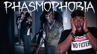 The Bravest Black Ghost Buster Of All Time! (Phasmophobia)