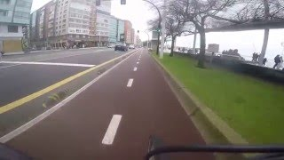 preview picture of video 'Gijon city mañana bici GOPRO'