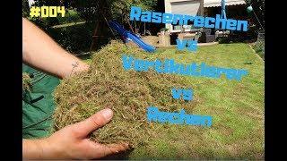 Rasenrechen Vertikutierer oder Rechen #004 | Rasenpflege Lawnrake Verticutter or Rake