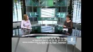 Інтерв'ю Надежда Петровна Бурмака в гостях студии 5-го телеканала