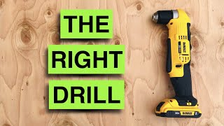 Get into tight spaces! Dewalt 20v Max Li Ion Right Angle Drill REVIEW DCD740B