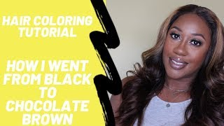 FULL Hair Coloring Tutorial | From Natural Black To Chocolate Brown | Www.yummycandicollection.com
