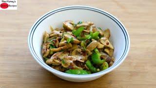 Super Easy Side Dish For Roti In 10 Mins – Veg Recipes – Mushroom Pepper Fry | Skinny Recipes