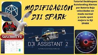 NUEVO DRON DJI SPARK 2020 MODIFICADO CON ASSISTANT 2 100KM/H 2020