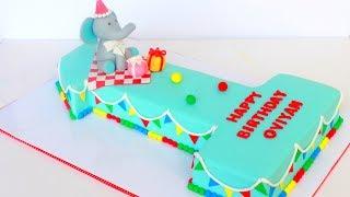 How to make a Number 1 Shape Cake