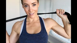 SEXY BACK // Resistance Band Workout From Home by Heather Robertson