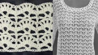 Ажурный узор для пуловера, схема