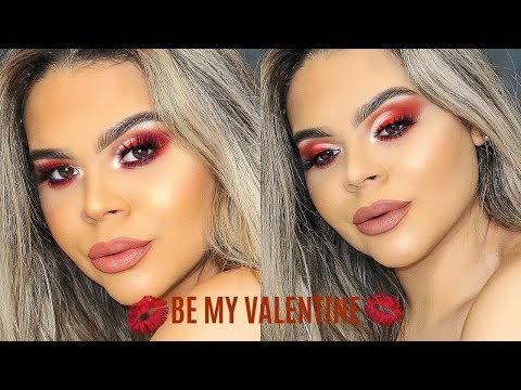 RED VALENTINES DAY MAKEUP LOOK SHARMKUP